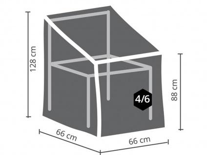 Schutzhüllen Set: 1x Hülle für Tisch max. 140cm + 1x Hülle für 4-6 Stapelstühle - Vorschau 4