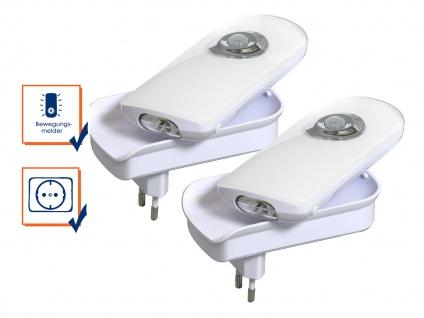 2er-Set LED Nachtlichter mit Bewegungsmelder Nachtlicht Notleuchte Taschenlampe