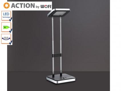 LED Schreibtischlampe schwarz, doppelt schwenkbar, Action by Wofi