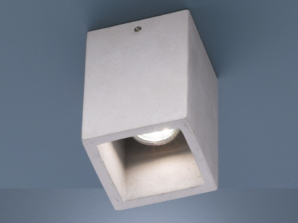 Dimmbare LED Deckenbeleuchtung für Wohnzimmer aus Beton toller Lichteffekt RETRO