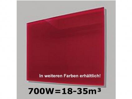 700W Infrarot-Glaspaneel rot, 110x60cm, für Räume 18-35m³