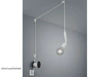 Pendellampe Weiß matt mit Kabel & Stecker für Steckdose - Fassung schwenkbar