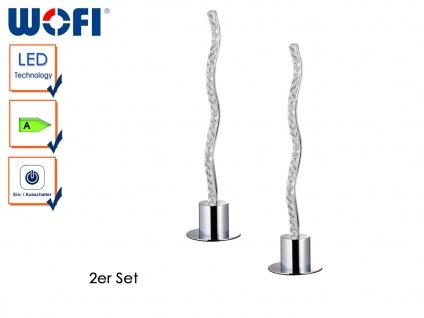 2er Set Designleuchte AMMARI, Stehleuchte in Chrom & Acryl, Standlampen Leuchten