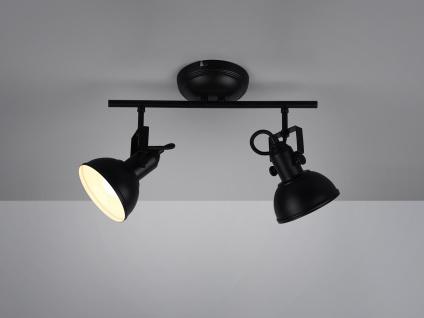 LED Deckenspot im Retro Look aus Metall in Schwarz dreh+ schwenkbar Wandstrahler
