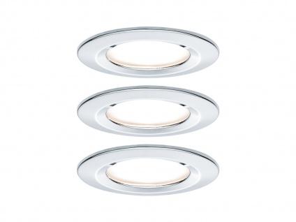 LED Einbaustrahler Decke 3er Set rund 68mm Chrom glänzend 6, 5W - IP44 fürs Bad
