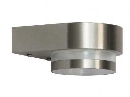 LED Wandleuchte UMA, Außenwandleuchte, Edelstahl IP44 RANEX