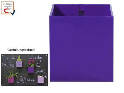Kunststofftopf mit Magnet Ø 6 cm Violett, Wand Aufbewahrung deko, KalaMitica