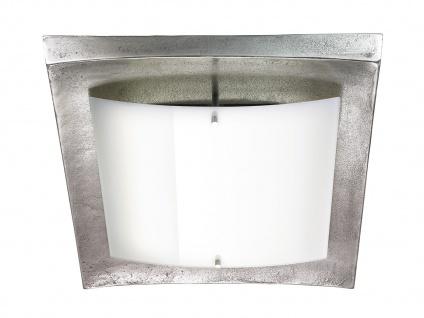 Dimmbare LED Deckenleuchte/Wandlampe, Nickel antik/Glas, Fischer-Leuchten