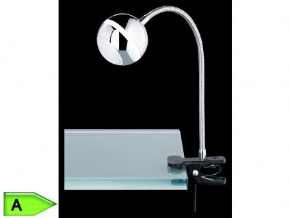 Trio LED-Klemmspot, ink.1x4, 2W SMD-LED, Flexarm Kunststoff chromfarben