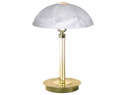 Tischleuchte / Tischlampe Messing / Glas, Wofi-Leuchten