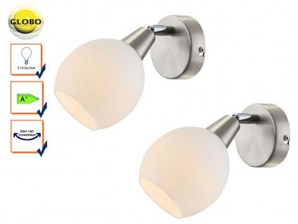 2er Set LED Wandleuchte Wandstrahler ELLIOTT, Wandlampe Leselampe schwenkbar