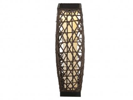LED Gartendeko - Solarbeleuchtung, Stehlampe mit Geflecht-Design in Rattanoptik