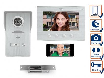 IP Türsprechanlage mit Kamera und Türöffner, Video Türklingel für 1 Familienhaus