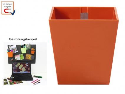 Kunststofftopf mit Magnet Ø 6 cm Orange, Wanddeko Wandaufbewahrung, KalaMitica
