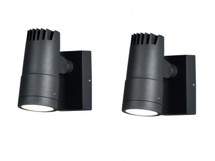 2 x ALU LED Wandleuchten für außen schwenkbar, Lichtaustritt 0°-90° verstellbar - Vorschau 2
