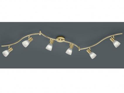 LED Deckenstrahler 6 flammig schwenkbar Messing matt für Innen Wohnzimmerlampen