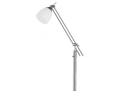 Stehleuchte E27 Schalter Höhe 165cm Glas matt/Nickel Trio-Leuchten