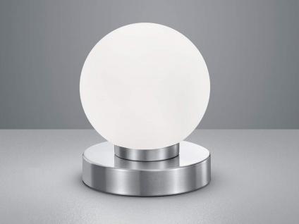 Tischlampe Kugelform mit GLAS Lampenschirm weiß Touch Dimmer - Wohnraumleuchten