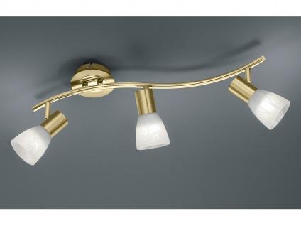 3 flammiger LED Deckenstrahler für Innen schwenkbar Messing matt Wohnzimmerlampe