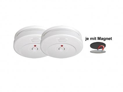 2er-SET Rauchmelder 5 Jahres Batterie TÜV geprüft + Magnetbefestigung Alarm - Vorschau 2