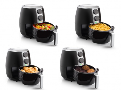 Heißluft Friteuse ohne Fett & Öl 4 Portionen, Pommes Fritteuse Luft Crispy Fryer - Vorschau 4