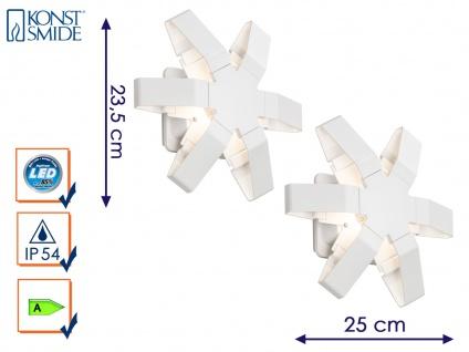 2er-Set LED Außenwandleuchten PESCARA Wandstrahler Wandleuchte 350 Lumen IP54