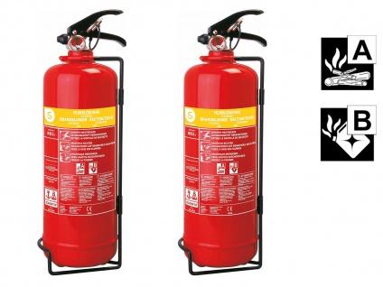2er-Set Schaumlöscher Feuerlöscher 2 Liter, Feuerklassen A, B