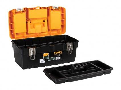 Werkzeugkiste Kunststoff mit Ablage + Easy Work Magnet, Werkzeugkasten leer Box - Vorschau 4
