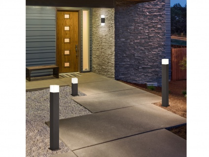 Eckige LED Außenwandlampen Anthrazit 2er SET Außenleuchten Terrassenbeleuchtung - Vorschau 5