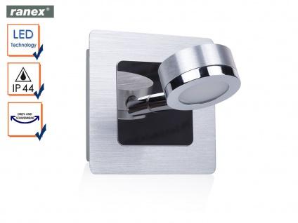 LED Badleuchte Wandleuchte schwenkbarer Wandspot Edelstahl, Badbeleuchtung IP44