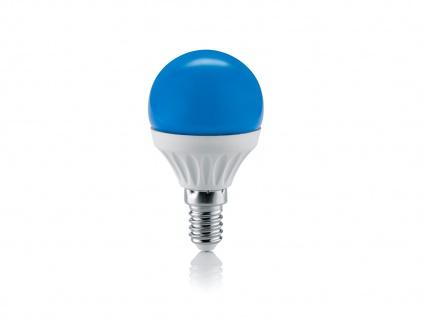 LED Leuchtmittel mit einem E14 Sockel Energielampe aus blauem Glas nicht dimmbar