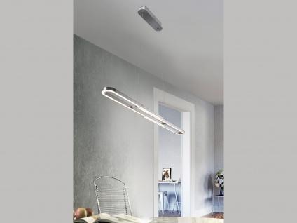 LED Pendelleuchte für Innen mit 3 Stufen Switch Dimmer, Metall Nickel matt, A+ - Vorschau 4