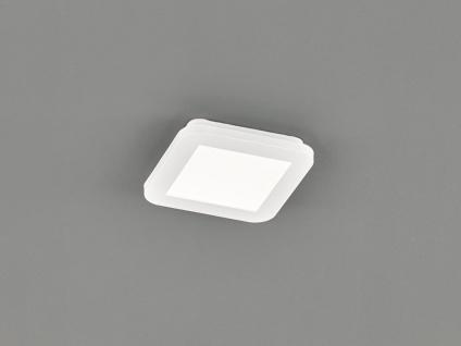 Kleine LED Deckenleuchte CAMILLUS flache Badezimmerlampe Eckig 17x17cm Weiß IP44