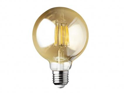 Filament LED dimmbar E27 Leuchtmittel Glühlampe Goldfarbig tranpsarent 6W 680lm