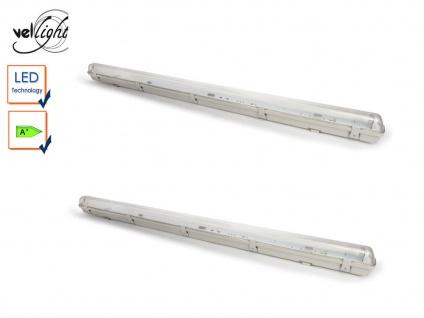 2Stk wasserfeste T8 LED Deckenleuchten 18W, ideal für Keller, Garage, Hobbyraum