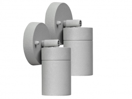 2er-Set Aluminium Wandspot MODENA grau GU10 Höhe 10, 5 cm IP44 Außenleuchten