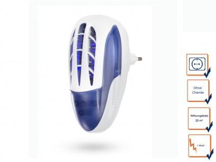 Insektenvernichter UV LED für Steckdose 1W 20m² Insektenlampe Mückenschutz