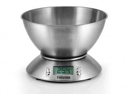 Küchenwaage mit Wiegeschale Digitaldisplay 5kg Tara-Funktion 1g-Schritte TIMER
