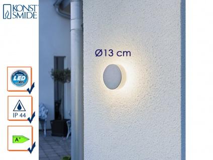 Konstsmide LED Außenwandleuchte PESARO 13cm, grau, IP44, Beleuchtung Fassade