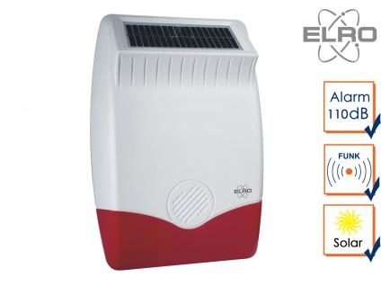 Solar außen Sirene für ELRO Alarmanlage AP5500 - Alarmgeber Hausüberwachung