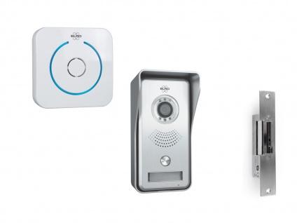 Video Türsprechanlage mit Funktürklingel & Türöffner, Klingelanlage Smartphone