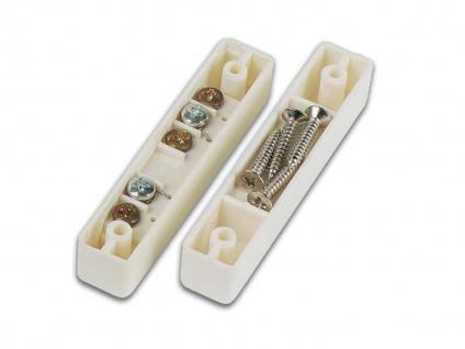 2er Set Magnetkontakt für Fenster und Türen, 6, 7 x 1, 3 x 1, 2cm, Einbruchschutz - Vorschau 3