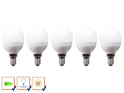 5er-Set LED Leuchtmittel 6 W warmweiß, E14, 470 Lumen / 3000 Kelvin