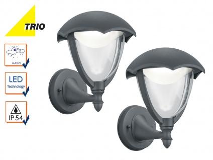 2er Set LED Außenwandlampe Laterne GRACHT anthrazit, Außenbeleuchtung Haus