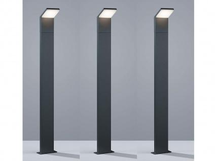 3er SET LED Gartenbeleuchtung aus ALU in anthrazit IP54 Carport Leuchte H100cm