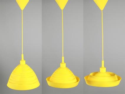 ausgefallene Hängeleuchte aus Silicon gelb 30cm coole Pendelleuchte 1 einflammig