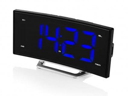 Radiowecker mit USB-Anschluss, Uhrenradio mit 2 Weckzeiten & Schlummerfunktion - Vorschau 2
