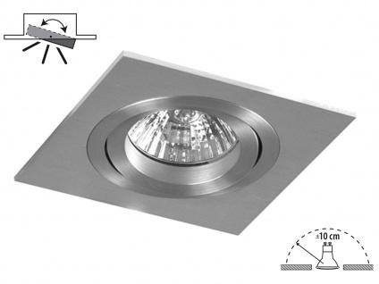 Aluminium Einbaustrahler Einbauspot dimmbar schwenkbar inkl. LM 230LM