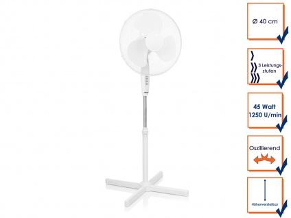 Standventilator oszillierender Stehventilator Winderzeuger Zimmerventilator weiß