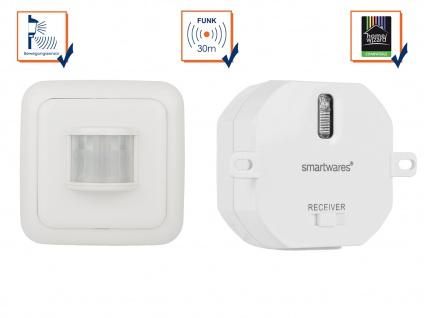 SmartHome Funk-Schalterset mit Bewegungmelder + Mini-Einbauschalter bis 1000W